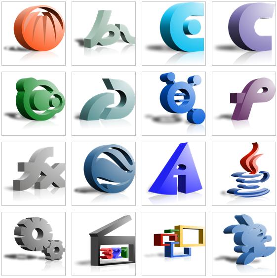 三维立体png系列a_设计素材库_沈阳创新设计服务中心